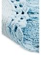 Giz Home Lace 2'li Set Klozet Takımı Oval Banyo Paspası Mavi Mavi